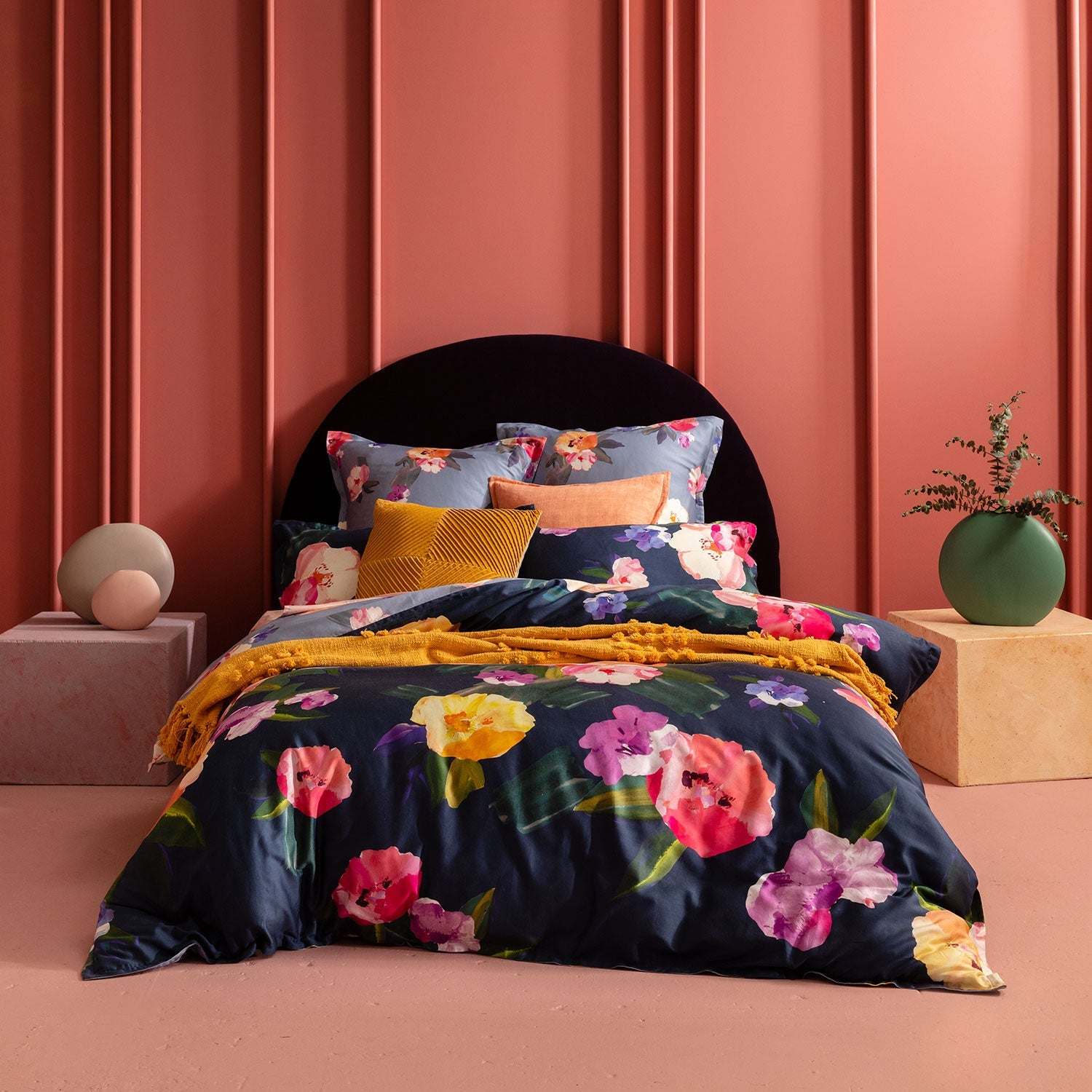 Bright Floral Quilt Cover Set