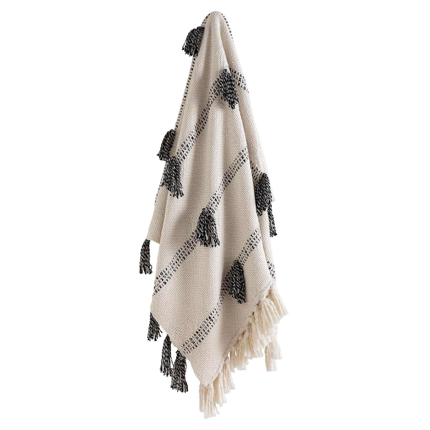 Black and White textured throw