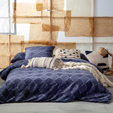 ORION DENIM QUILT COVER SET