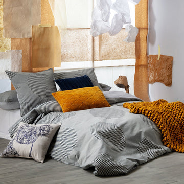 SITRA GREY QUILT COVER SET