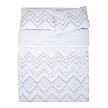 TECO WHITE QUILT COVER SET