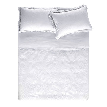 TERRELL WHITE QUILT COVER SET