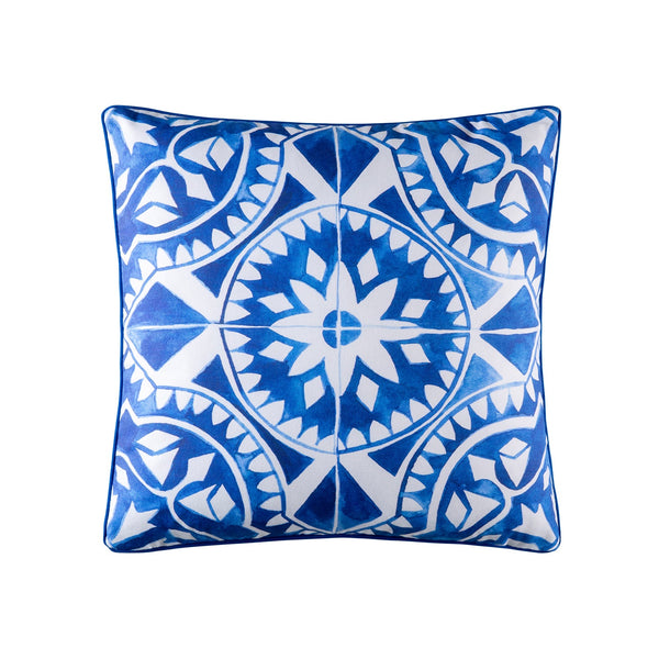 ZILLYA BLUE OUTDOOR SQUARE CUSHION