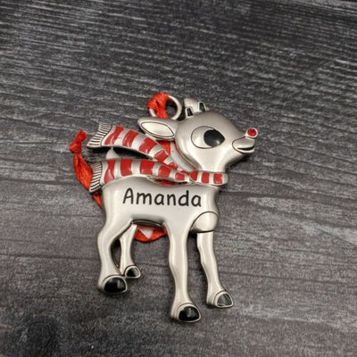 Hallmark Rudolph The Red Nosed Reindeer AMANDA Christmas Ornament