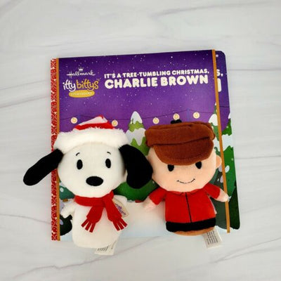 Hallmark Itty Bittys It's A Tree-Tumbling Christmas Charlie Brown Storybook Set - Piglet's Closet