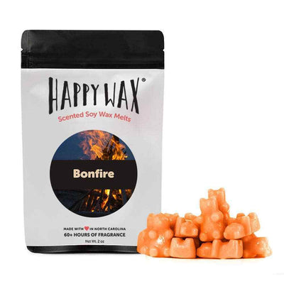 Happy Wax 2 oz Teddy Bear Seasonal Scented Wax Melts - Bonfire - Piglet's Closet