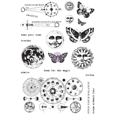 Dream Without Fear Astrology Mini Cling Stamp Set - Piglet's Closet
