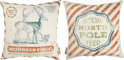 PBK North Pole Feed Reindeer Food Primitive Feed Sack Christmas Pillow