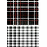Re-design by Prima Black Gingham Red White Furniture Decor Transfer