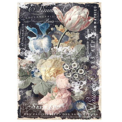 Re-design by Prima Bridgette Floral Tissue Decoupage Paper 19