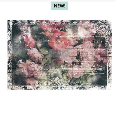 Re-design by Prima Celeste Floral Tissue Decoupage Paper 19