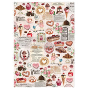 "Re-design by Prima Retro Super Decadent Tissue Decoupage Paper 19"" x 30"" - Piglet's Closet"