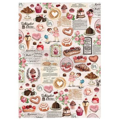 Re-design by Prima Retro Super Decadent Tissue Decoupage Paper 19