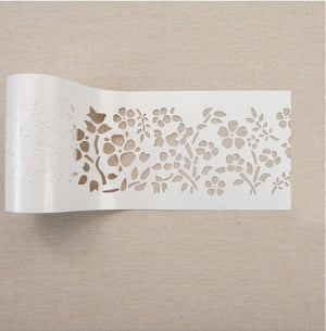 "Re-design by Prima Royal Ann Garden Stick and Style Stencil Roll 4"" 15 yards - Piglet's Closet"