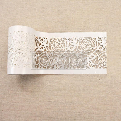 Re-design by Prima Tea Rose Garden Stick and Style Stencil Roll 4