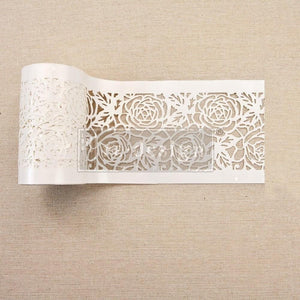 "Re-design by Prima Tea Rose Garden Stick and Style Stencil Roll 4"" 15 yards - Piglet's Closet"