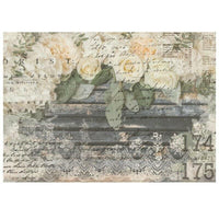 "Re-design by Prima White Fleur Floral Decor Furniture Transfer 24"" x 34"" - Piglet's Closet"