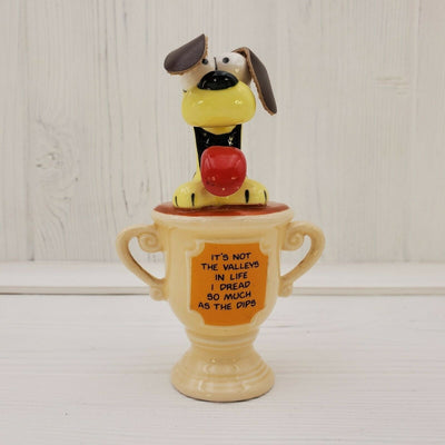 1981 Enesco Garfield the Cat Odie Trophy Figurine Not Valley's The Dips - Piglet's Closet