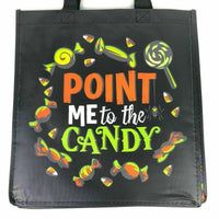 2019 Disney Parks Halloween Mickey Tote Reusable Bag Point Me To The Candy - Piglet's Closet