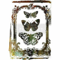 "Re-design Prima Butterfly Frame Decor Furniture Transfer 30"" x 22"" - Piglet's Closet"