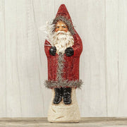 "Ragon House 11"" Red Glitter Belsnickle Santa Tinsel Trim Figurine - Piglet's Closet"