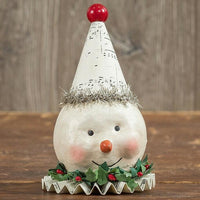 "Ragon House 5"" Party Hat Snowman Paper Mache Figurine - Piglet's Closet"