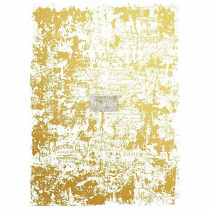 "Redesign with Prima Redesign Decor Transfer - Gilded Distressed Wall 17"" X 23"" - Piglet's Closet"