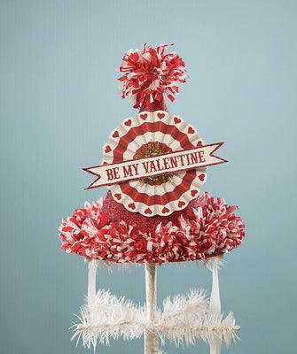 Bethany Lowe Valentine's Day Be My Valentine Decor Tabletop Hat - Piglet's Closet