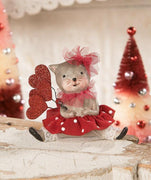 Bethany Lowe Valentine's Day Calico Kitty Cat Figurine