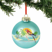 Dept 56 Margaritaville Its 5 Oclock Somewhere Glass Ball Ornament - Piglet's Closet