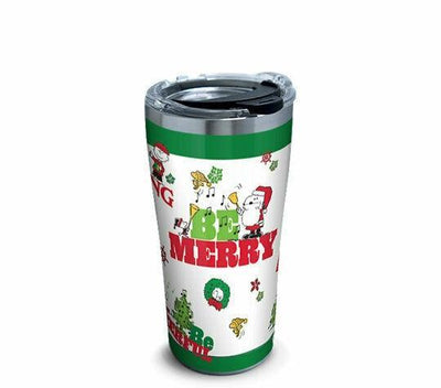2019 Tervis Peanuts Be Merry 20 oz Stainless Steel Holiday Christmas Tumbler