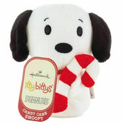 2019 Hallmark Itty Bittys Peanuts Christmas Snoopy Candy Cane Plush - Piglet's Closet