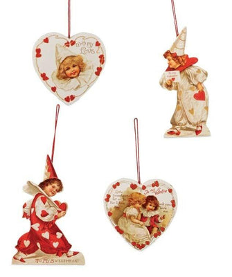Bethany Lowe Valentine's Day Little Sweetheart Dummy Board Ornament Set - Piglet's Closet