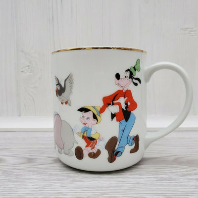 Vintage Walt Disney Productions Mickey Mouse Friends Japan Coffee Mug