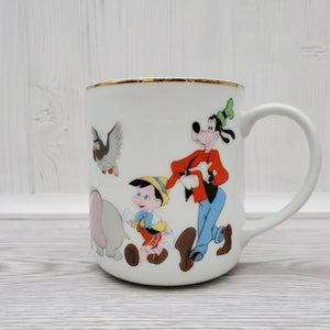 Vintage Walt Disney Productions Mickey Mouse Friends Japan Coffee Mug - Piglet's Closet