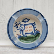 M.A. Hadley Farmhouse Cow Handpainted Ashtray Ceramic Pottery - Piglet's Closet