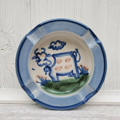 M.A. Hadley Farmhouse Cow Handpainted Ashtray Ceramic Pottery