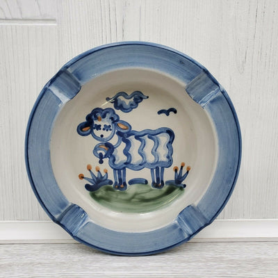 M.A. Hadley Sheep Farm Handpainted Ashtray Ceramic Pottery