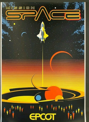 Disney Epcot Mission Space Poster Imagineering Limited of 100 Serigraph
