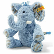"Steiff Medium Earz Blue Elephant Stuffed Animal 12"" - Piglet's Closet"
