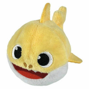 "Baby Shark Yellow Shark Mini Beanie Stuffed Animal 2"" - Piglet's Closet"