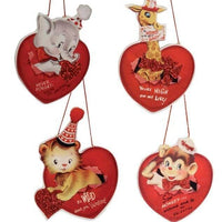 Bethany Lowe Valentine's Day Wild About You Retro Circus Dummy board Ornament - Piglet's Closet