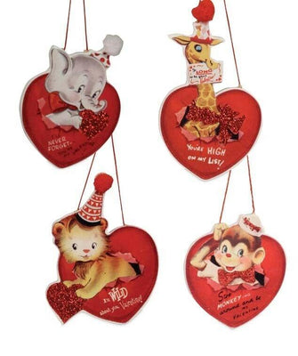 Bethany Lowe Valentine's Day Wild About You Retro Circus Dummy board Ornament
