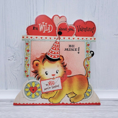 Bethany Lowe Valentines Wild About You Retro Animal Lion Dummy Board - Piglet's Closet