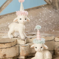 Bethany Lowe Designs Spring Party Lamb Easter Figurine - Piglet's Closet
