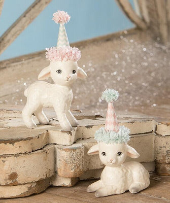 Bethany Lowe Designs Spring Party Lamb Easter Figurine