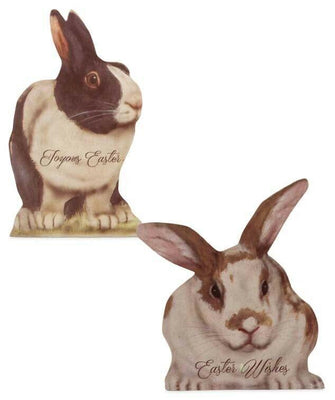 Bethany Lowe Designs Easter Bonnie Barrett Bunny Rabbit Dummy Board Set
