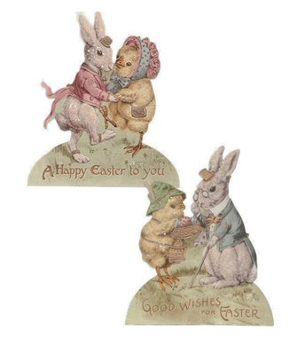 Bethany Lowe Designs Easter Wishes Bunny Rabbit Dummy Board Set