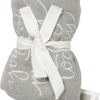 PBK You Look Pretty Today Embroidered Gray Bathroom Wash Cloth - Piglet's Closet