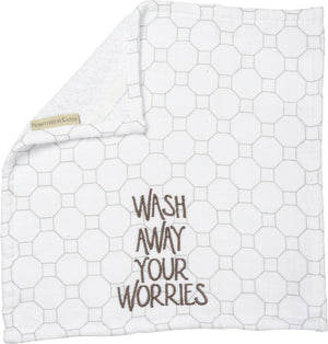 PBK Wash Away Your Worries Bathroom Wash Cloth - Piglet's Closet